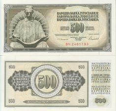 Yugoslavia 500 Dinares 1981  (fuera de circulación) Nikola Tesla
