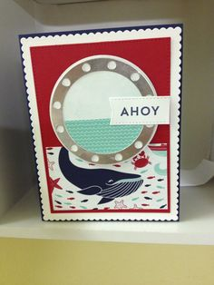 card nautical MFT porthole die - Let´s get nautical - Cruising with friends MFT go overboard stamps & dies
