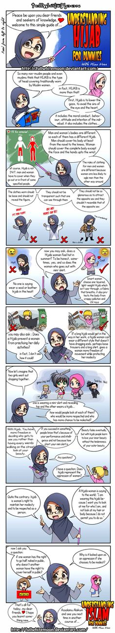 """Peace be upon you, here is the first course of """"Understanding Islam for dummies"""" introduced by teacher Miss Noor:"""" Understanding Hijab for dummies"""". Religion, Islam Women, Islamic Quotes, Islamic Prayer, Islamic Messages, Muslim Quotes, Islamic Art, All About Islam, Niqab"""