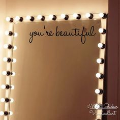 You're Beautiful Wall Sticker Girls Quote Wall Sticker From iWall Sticker at Aliexpress