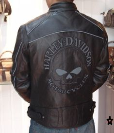 Harley Davidson Leather Biker Jackets for Men 2012 Trends Pictures