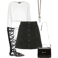 bw by paluna on Polyvore featuring polyvore fashion style Topshop Steve Madden Mackage Givenchy