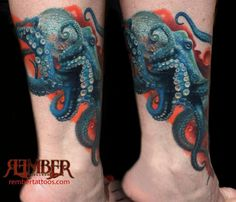 Octopus Tattoo by Remember Tattoos