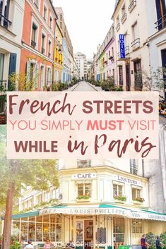 Pretty Paris streets, lanes, and roads you need to walk down in Paris, France. Here's your complete guide to the best of Parisian streets, as well as where to find them! travel These Pretty Paris Streets Are Unreal: 15 Roads in Paris You Must Visit! Paris Travel Guide, Europe Travel Tips, Travel Guides, Travel Destinations, Europe Packing, Traveling Europe, Backpacking Europe, Packing Lists, Travel Deals