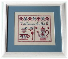 VOChantalP - I will have to purchase the pattern for this and the Cafe. Stitch Witchery, Teapots And Cups, Le Point, Cross Stitching, Needlework, Creations, Kids Rugs, Colours, Embroidery