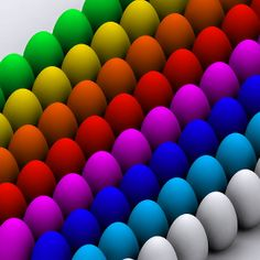 """Colorful eggs"" by Nasko ."
