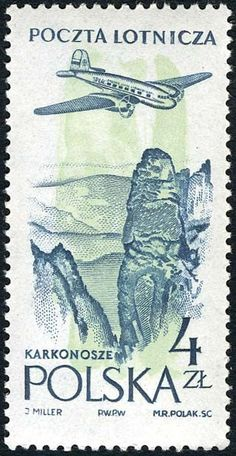 Znaczek: Karkonosz(mountains) (Polska) (Poczta lotnicza) Mi:PL 1039,Sn:PL C45,Pol:PL 894