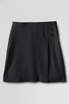 Girls' Solid A-line Skirt (Below The Knee) from Lands' End