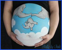 Belly Painting: Elefanten