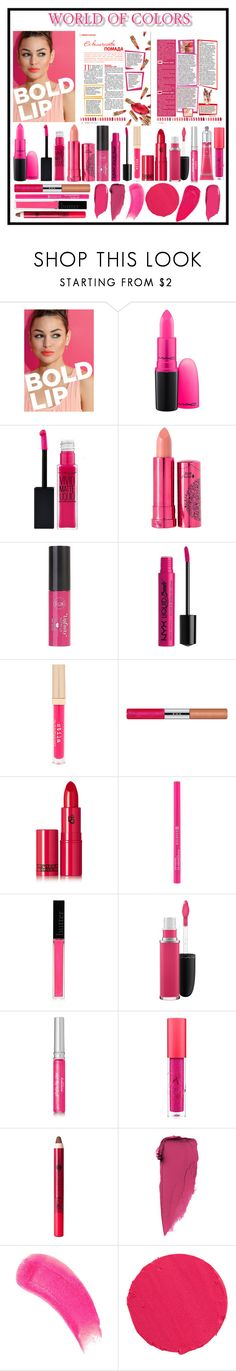 """""""Bold Lips"""" by christinemusal ❤ liked on Polyvore featuring beauty, ULTA, MAC Cosmetics, 100% Pure, Charlotte Russe, NYX, Stila, RMK, Lipstick Queen and Butter London"""