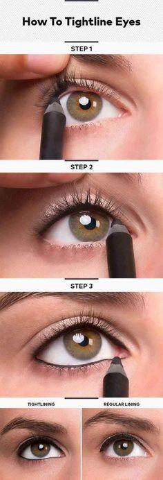2. Tightlining | 17 Great Eyeliner Hacks for Makeup Junkies | Makeup Tutorial