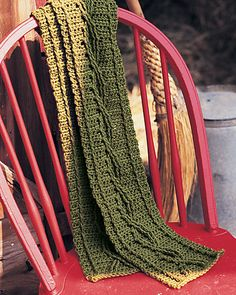 Ravelry: Crochet Cable Scarf pattern by Joyce Nordstrom (free)