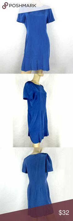 LIZ CLAIBORNE vintage work shift pencil dress 12 LIZ CLAIBORNE vintage work party blue shift pencil dress Womens Petite size 12 (M) Liz Claiborne Dresses