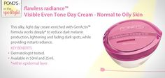 flawless radiance Visible Even Tone Day Cream - Normal to Oily Dark Spots, Oily Skin, Spotlight, It Works, Cream, Day, Creme Caramel, Dark Stains, Nailed It