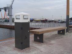 GroundLevel afvalbak Dukdalf. Custom made product voor de nieuwe haven van Spakenburg evenals de bijbehorende bank. #afvalbak #litterbin #dukdalf #spakenburg