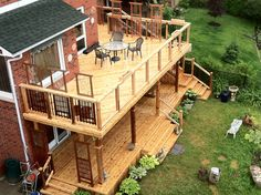 Amazing two story deck. #deck #westernredcedar #realcedar #outdoorliving