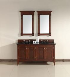 Guest House Bathroom idea:  Uniquevanities.com:  60 Inch Double Sink Bathroom Vanity with Four Doors