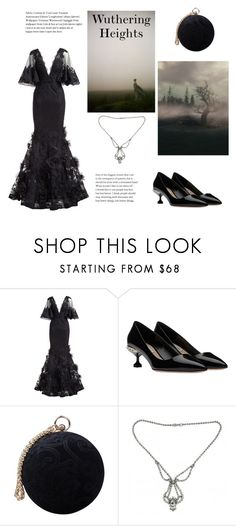 """""""Day 11: Wuthering Heights(Book Challenge)"""" by yosifova ❤ liked on Polyvore featuring Marchesa, Carvela, Weiss, outfit, Elegant, books, challenge and WUTHERINGHEIGHTS"""