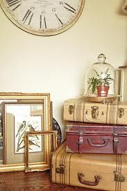Antique Suitcases love this idea.. perhaps we can incorporate this somewhere in the LR