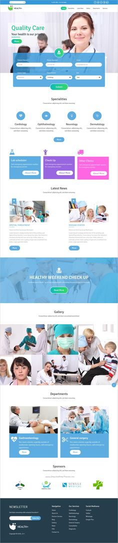 Health+ is a perfect #bootstrap #HTML5 template for #medical, clinic, #hospital or doctors website download now➩ https://themeforest.net/item/healthplus-health-clinic-html5-website-template/18788808?ref=Datasata