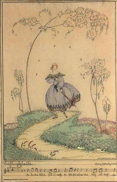 """Mehla Köhler: """"Frühlingslaube"""", 1918, Tusche und Wasserfarbe © Wien Museum Vienna, Vintage World Maps, Museum, Spring, Pretty, Painting, Art, Painting Art, Paintings"""