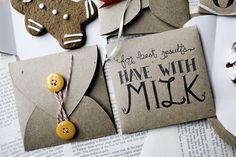 cookie envelopes #pinspiration