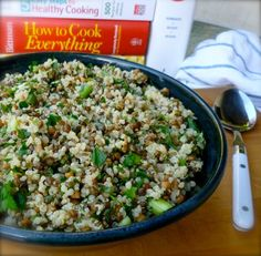 Light Healthy Lemon Lentil Quinoa Salad