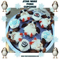 Porgs Cupcakes Recipe Star Wars The Last Jedi for Birthdays, Christmas, Hanukkah, or Winter Break.
