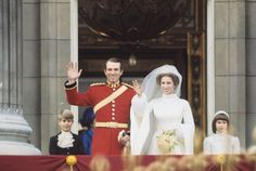 While the nuptials of Princess Anne and Mark Phillips were nowhere near as influential as Princess Diana's wedding would be eight years later, their wedding did embody some classic '70s wedding style—just check out Anne's turtleneck style dress.
