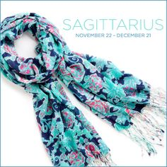 Lilly Pulitzer Sagittarius Horoscope Murfee Scarf- See all of our exclusive horoscope prints.