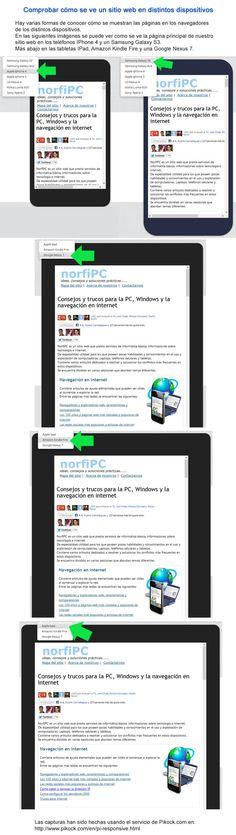 Comprobar cómo se ve un sitio web en distintos dispositivos. En las siguientes imágenes se puede ver como se ve la página principal de nuestro sitio web en los teléfonos IPhone 4 y un Samsung Galaxy S3. Más abajo en las tabletas IPad, Amazon Kindle Fire y una Google Nexus 7