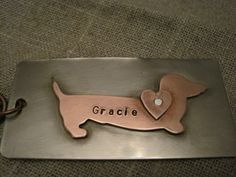 dachshund keychain by SoShe on Etsy, $21.00