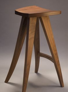 hand crafted wood barstool or computer stool, walnut, made in custom sizes by Seth Rolland fine furniture design Diy Pallet Furniture, Fine Furniture, Unique Furniture, Custom Furniture, Wood Furniture, Furniture Design, Furniture Market, Furniture Layout, Furniture Online