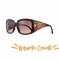 ️HP 2/23,3/7,3/28CAVALLI LASER DETAIL SUNNIES Unique injected square sunglasses with laser-cut detail by none other than Roberto Cavalli. Brown lense, curved at temples, logo stamp. Triangular laser-cut detail at wide arms with studs. Roberto Cavalli Accessories Sunglasses