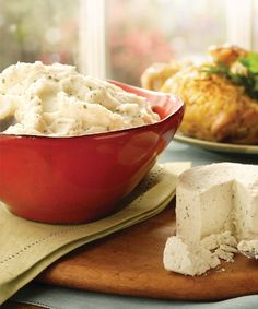 Boursin® Mashed Potatoes Recipe | Mashed potatoes made with garlic & herb cheese!