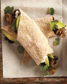 Avocado-Black Bean Wrap