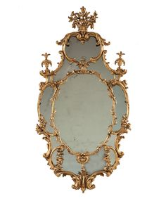 A George III Chippendale Period Gilt-Wood Mirror