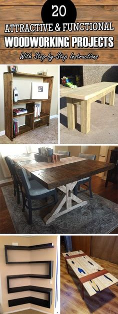 20 Attractive & Functional Woodworking Projects With Step-by-Step Instructions