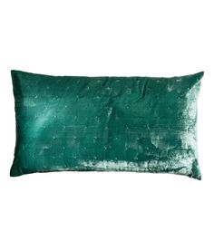 Check this out! Cushion cover with lightly padded velvet at front and solid-color, woven cotton fabric at back. Concealed zip. - Visit hm.com to see more.