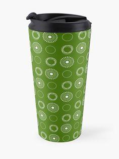 White Dandelion, Mug Designs, Travel Mug, The Unit, Stainless Steel, Mugs, Tableware, Pattern, Prints