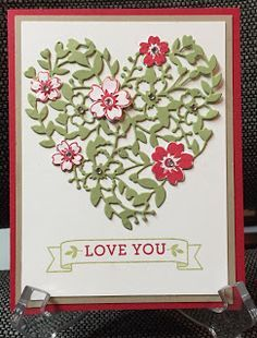 Stamp with Anna, Stampin Up, Bloomin' Heart, Bloomin' Love, Valentine, Love