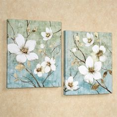 In Bloom Canvas Art Multi Cool Set of Two