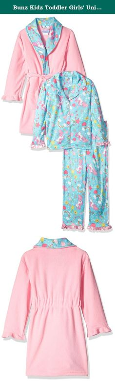 f28534fb6e Bunz Kidz Toddler Girls  Unicorn and Rainbows Robe and Pajama Set