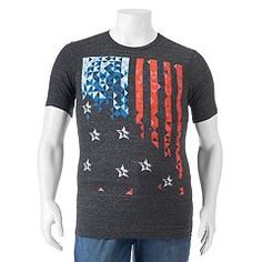 Take charge of your casual look with this men's Apt. Big & Tall, Kohls, Christmas Sweaters, Graphic Tees, Mens Tops, Box Store, Clothes, Badass, Military