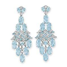 Cartier Art Deco Aquamarine Earrings - Category:Cartier - AJU