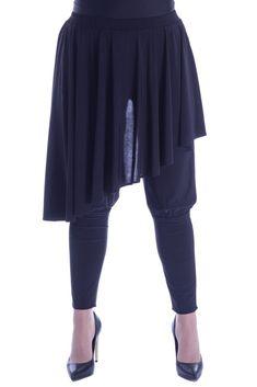 Pantaloni jerse cu fusta suprapusa