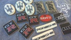 Car logo cookies. Sugar cookies with royal icing.