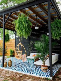 CLEAN AND FRESH BACKYARD PATIO LANDSCAPE IDEAS. You possibly can make your house much more special with backyard patio designs. You can turn your backyard in to a state like your dreams. You won't have any trouble now with backyard patio ideas. Backyard Gazebo, Backyard Patio Designs, Small Backyard Landscaping, Pergola Designs, Pergola Patio, Landscaping Ideas, Patio Ideas, Pergola Kits, Modern Pergola