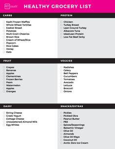 IdealFit-Grocery-List