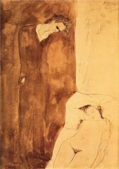 Sleeping nude, 1904 Pablo Picasso - Rose Period